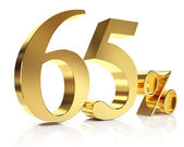 Gold sixtyfive percent discount symbol — Stock Photo