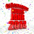 Happy New year 2014 in german languages — Stock Photo