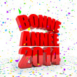 Happy New year 2014 in french languages — Stock Photo