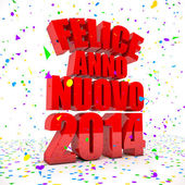 Happy New year 2014 in italian languages — Stock Photo