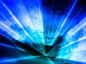 Blue Lasershow — Stock Photo