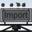 Import signal — Stock Photo
