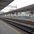 Foto Stock: Train station