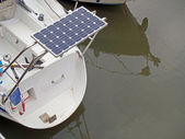 Solar panel of a boat — Stock Photo
