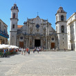 San Cristobal in Cathedral Square — Stock Photo