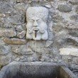 Royalty-Free Stock Photo: Man head fountain