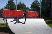 Man fantasize skateboarding — Stock Photo