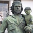 Guevara statue with a child — Stock Photo