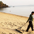 Stock Photo: Sweeping beach