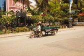 Traffic in Cambodia — Stock Photo