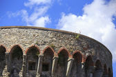 Detalj av ett slott i sarzana la spezia italien — Stockfoto