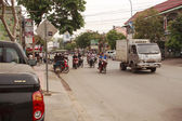 Busy street in Siem Reap, Cambodia — Stock Photo