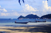 Longtail boats in thailand — Stock Photo