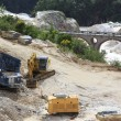 Working the Marble Quarry - Italy — Stock Photo