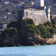 Lerici typical village, Castle in Liguria — Stock Photo
