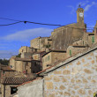Pitigliano, hilltop town — Stock Photo