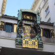 Detail of the famous Jugendstil Ankeruhr in Vienna — Stock Photo
