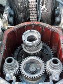Rusty industrial engine  — Stock Photo