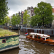 Houseboats in Amsterdam — Stock Photo