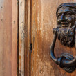 Stock Photo: Κnockers on old door