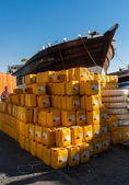 Dubai's traditional dhow and cargo — Foto de Stock