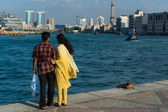 Enjoying the view of Dubai Creek — Stock Photo