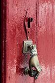 Κnocker on old door — Stock Photo