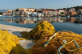 Fishing nets in greek island — Stock Photo