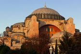 Hagia sofia w stambule o zachodzie słońca — Zdjęcie stockowe