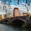 Lambeth Bridge in London, UK - Stock Photo
