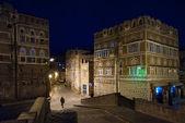Sanaa dans la nuit, yémen — Photo