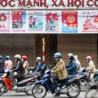 Motorcycle drivers in Hanoi, Vietnam - Stock Photo