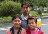 Gypsy girls in Romania — Stock Photo