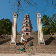 Stock Photo: Riding a bicycle in Vietnam