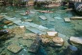 The Sacred Pool in Pamukkale, Turkey — Stock Photo