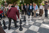 A game of chess in Sarajevo, Bosnia and Herzegovina — Stock Photo
