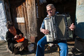 Accordion player in Greece — Stock Photo