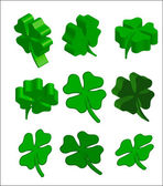 3d st.patrick cloverleaf — Stock Photo