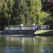 Romantic Bridge at Sheffield Park and Gardens. — Stock Photo