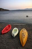 Three Canoes — Stock Photo