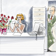 Office Romance — Stock fotografie