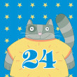Cat is 24 years old - Stock Photo