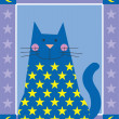 Star Cat — Foto de Stock