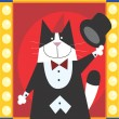 Magician Cat — Stock Photo