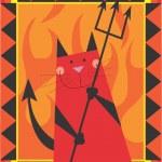 Cat Devil — Stock Photo