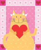 Gato amor — Fotografia Stock