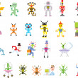 Group of pixel illustrations - Stock Photo