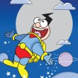 Cartoon super hero — Stockfoto