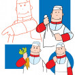 Cartoon study of a chef — Stock Photo