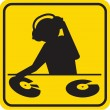 Stock Photo: Silhouette DJ